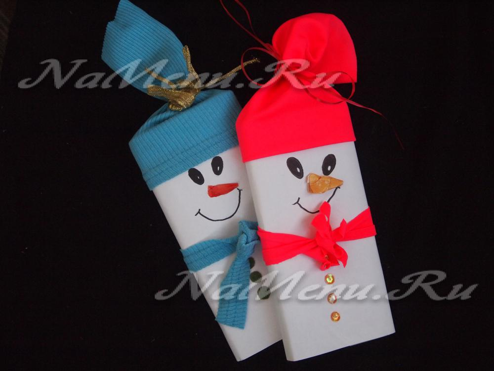 Шоколадки снеговики своими руками