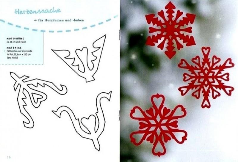 Вырезать снежинку схемы своими руками фото
