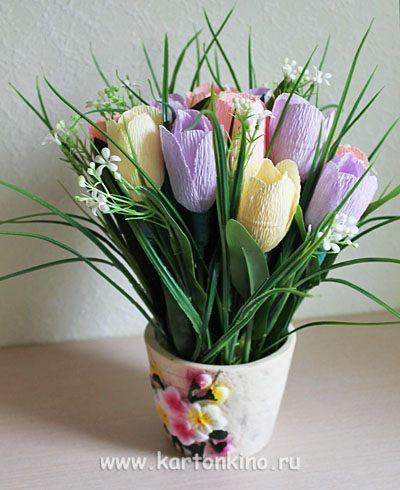 Букеты из конфет своими руками тюльпаны пошаговое фото