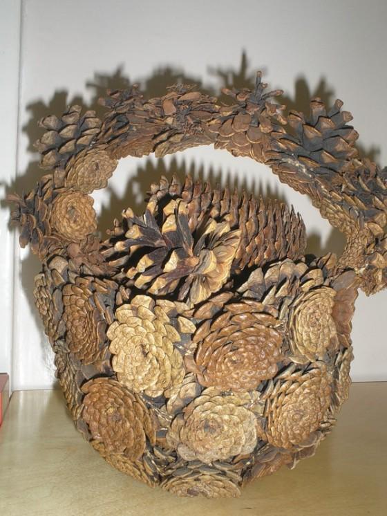Как сделать корзину из природного материала