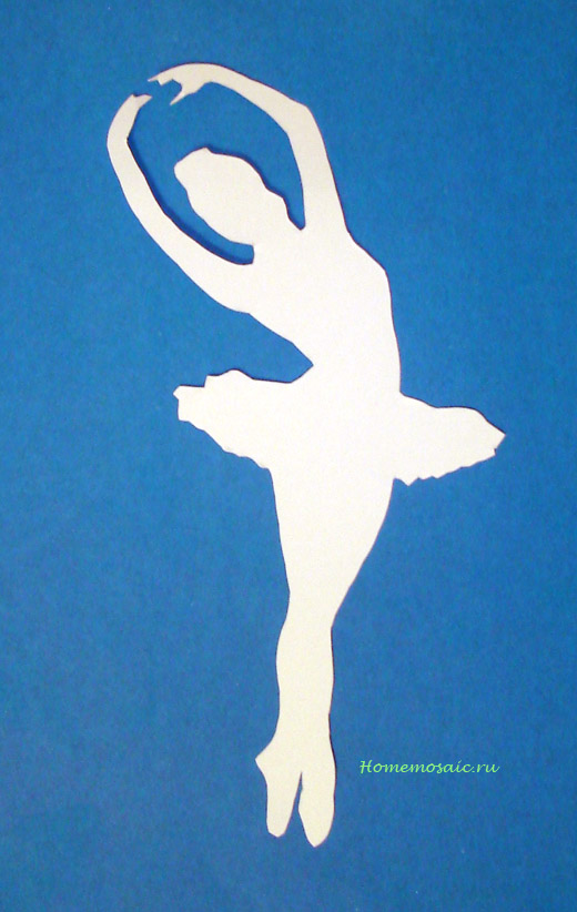 Поделка к новому году балерина