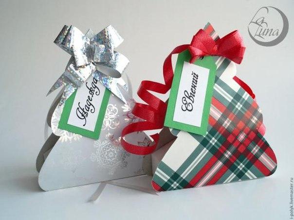 Подарочные елочки своими руками