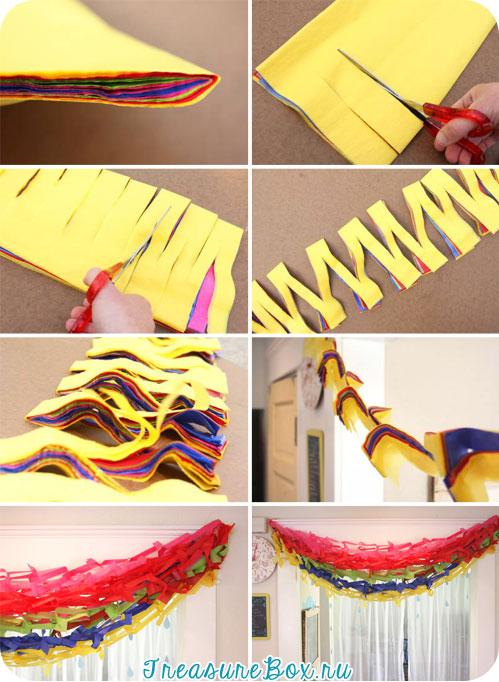 Необычные костюмГирлянда из бумаги своими руками схемы