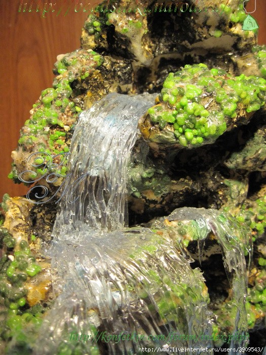 Водопады из монтажной пены своими руками