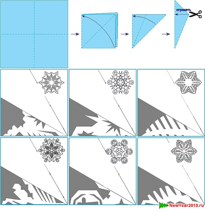 Из бумаги схема шаблон