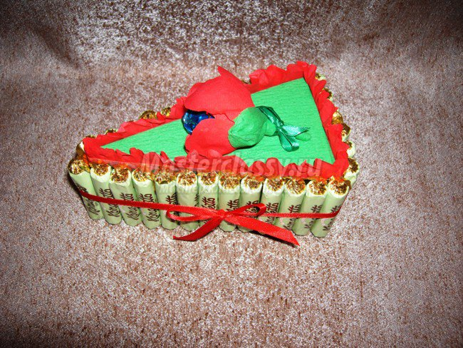 Торты из конфет пошаговое фото
