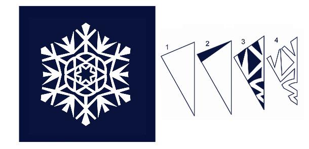 Вырезать снежинку на новый год своими руками