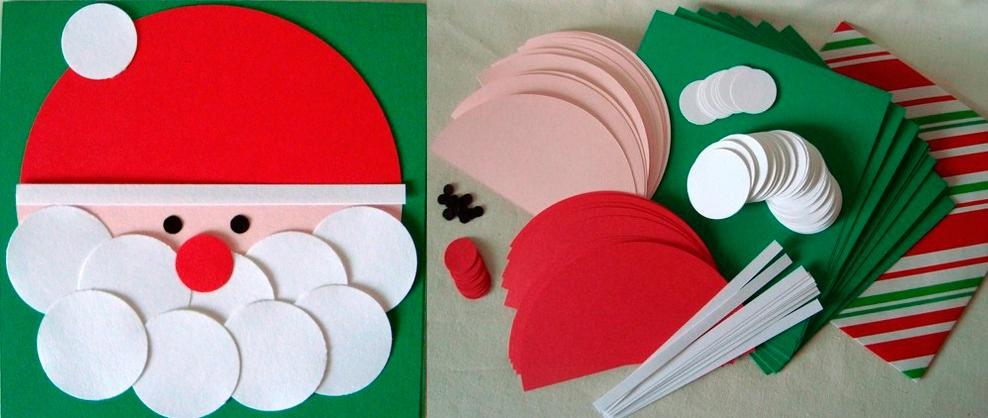 Поделка на новый год из бумаги и картона своими руками