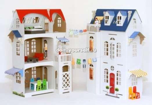 Кукольный домик своими руками из картона поэтапно
