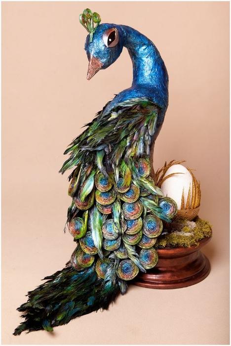 Птица своими руками павлин из