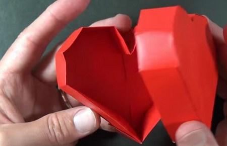 Видео как сделать коробку сердце видео