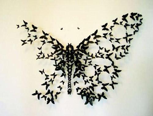 Фото из бабочек своими руками фото