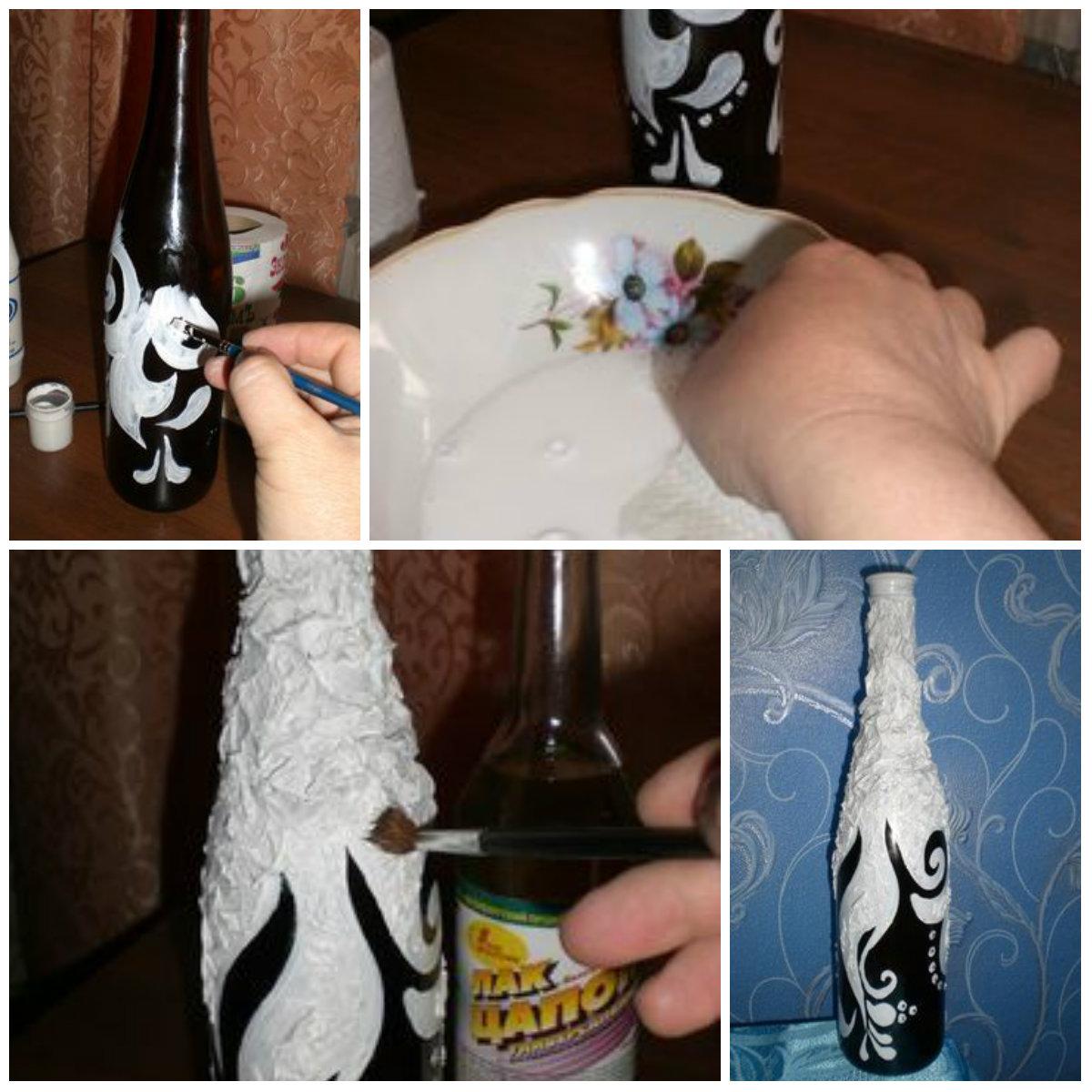 Как декорировать бутылки своими руками 774