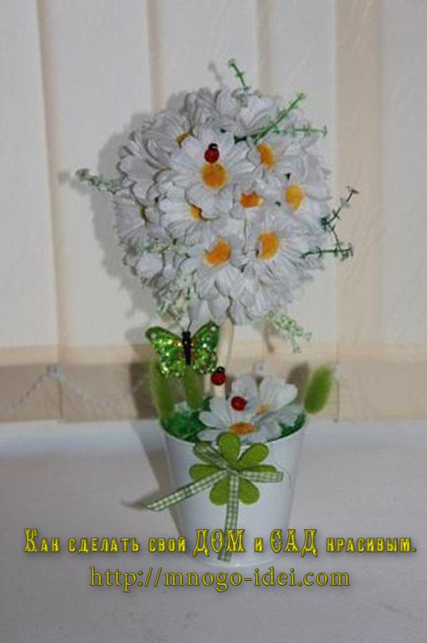 Цветы для топиариев своими руками