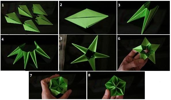 Как сделать красивую игрушку на елку из бумаги