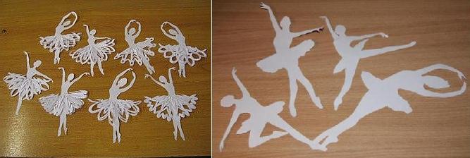 Как сделать снежинку балерину из бумаги своими руками видео