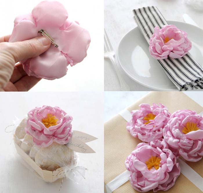 Мастер класс сделать цветок из ткани своими руками