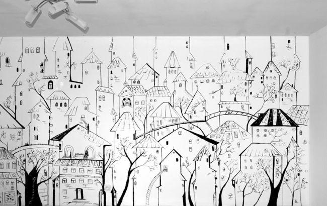 Черно белые рисунки на стенах своими руками в квартире