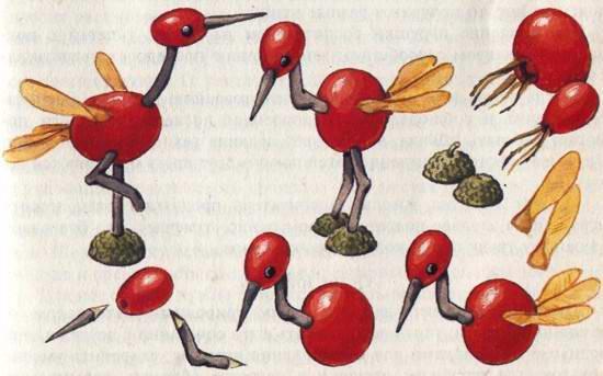 Поделки из плодов шиповника