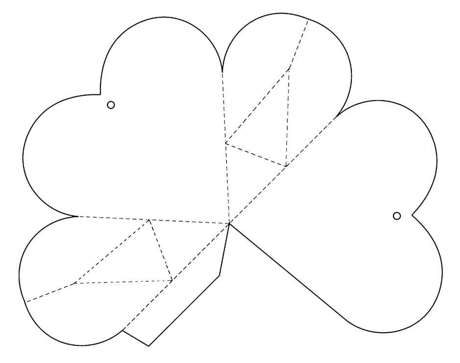 Коробочки в виде сердца своими руками шаблоны