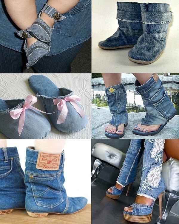 Джинсовая обувь своими руками