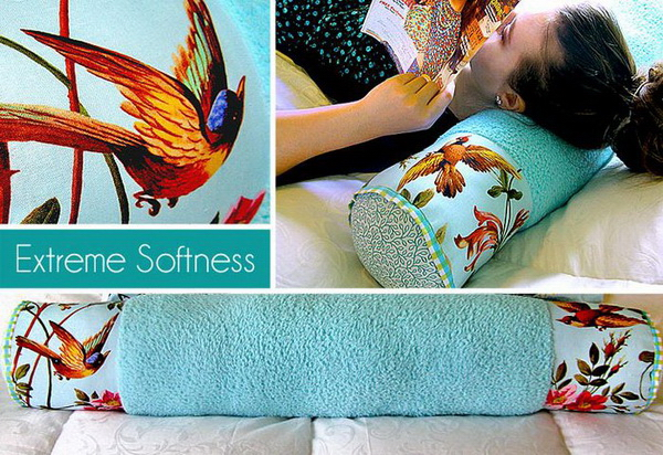 Сшить подушку валик своими руками