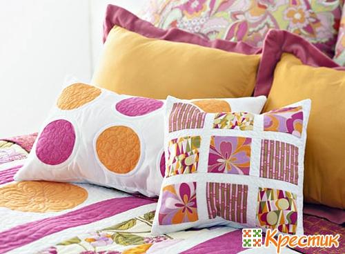 Удивительный пэчворк: подушки