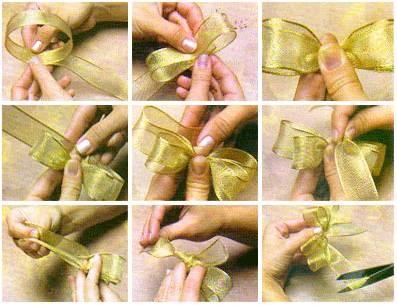 Как сделать красивый бантик своими руками